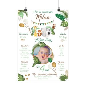 Affiche anniversaire Milan affiches madame jovial bge store