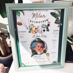 Affiche anniversaire Milan2 affiches madame jovial bge store