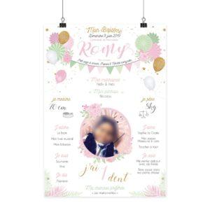 Simu_Festif Rose _ Mint affiches madame jovial bge store